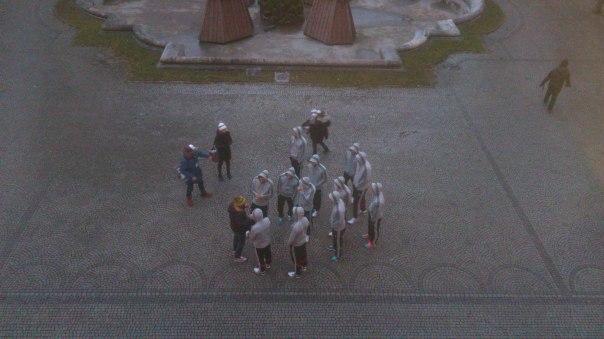 """Radek-Darsteller bei den Dreharbeiten zu """"Running Radek - Der Film"""""""